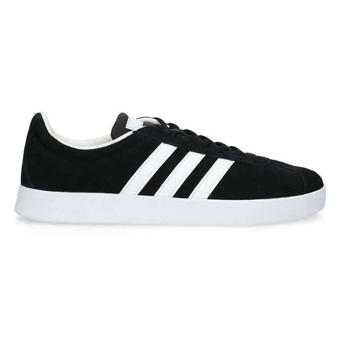Černé dámské tenisky z broušené kůže adidas, černá, 503-6379 - 19