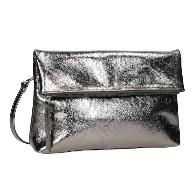 Stříbrná dámská Crossbody kabelka bata, stříbrná, 2021-961-1852 - 13