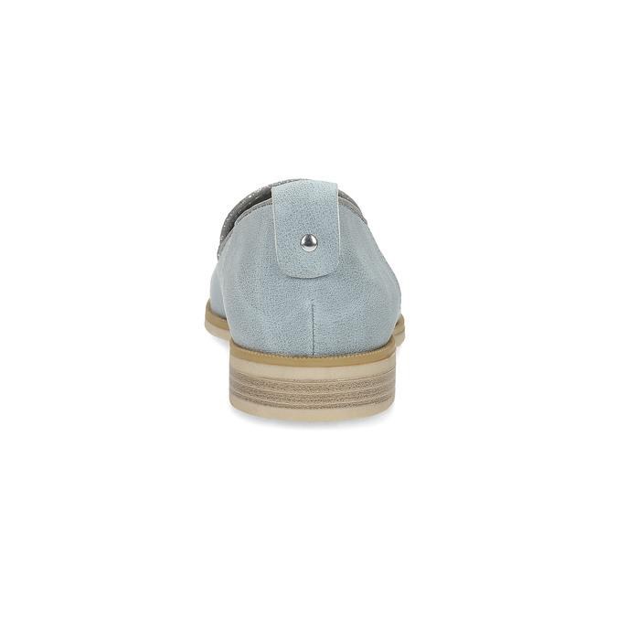 Kožená dámská Loafers obuv bata, modrá, 519-9605 - 15