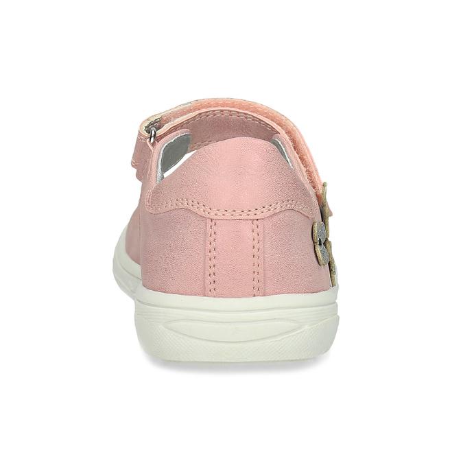 Růžové dívčí baleríny mini-b, růžová, 221-5216 - 15