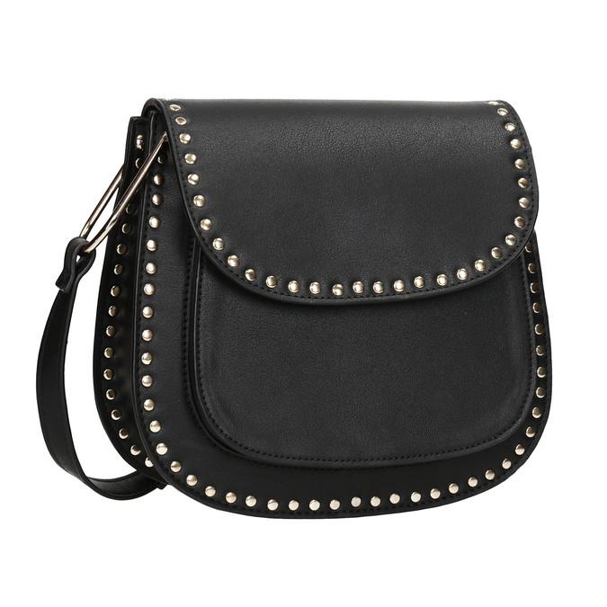 Černá Crossbody kabelka se cvoky bata, černá, 961-6844 - 13