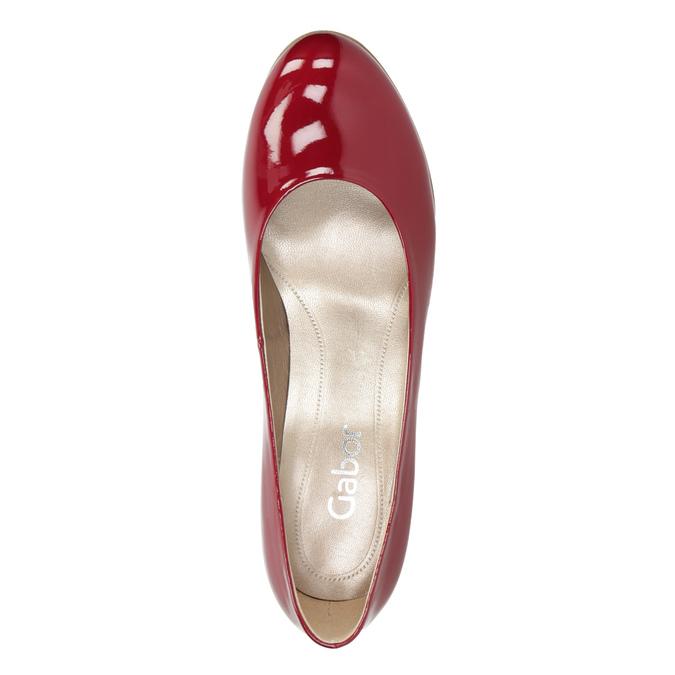 Červené dámské lodičky gabor, červená, 721-5064 - 15