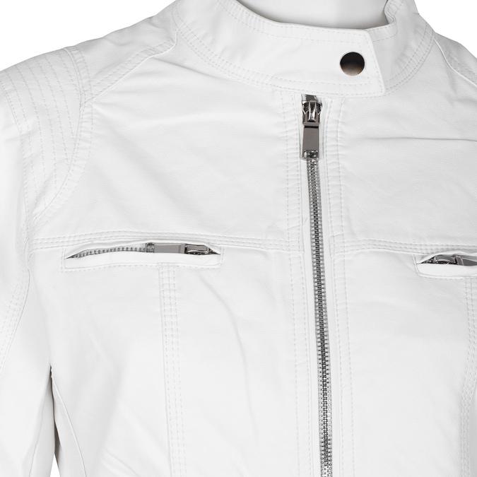 Dámská koženková bunda bílá bata, bílá, 971-1206 - 16