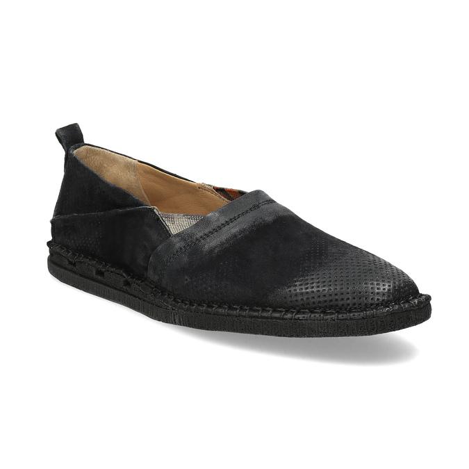 Ležérní kožené Slip-on boty a-s-98, černá, 816-6058 - 13