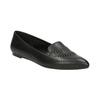 Kožené dámské Loafers s perforací bata, černá, 524-6659 - 13