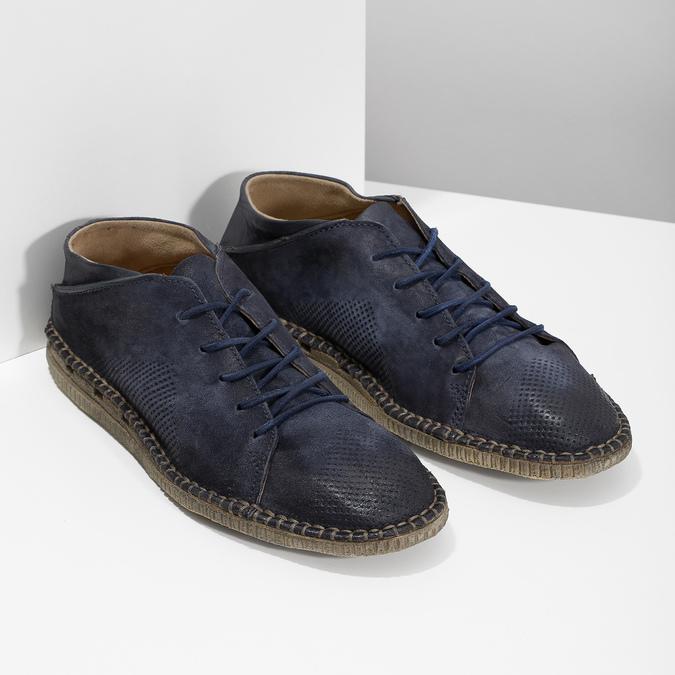 Kožené boty ve stylu Desert Boots modré a-s-98, modrá, 826-9002 - 26