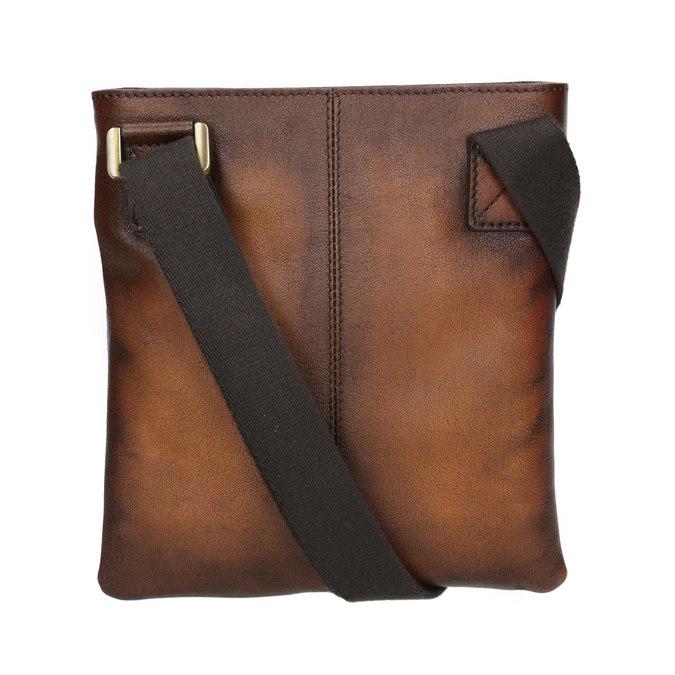 Kožená pánská Crossbody taška bata, hnědá, 964-3284 - 16