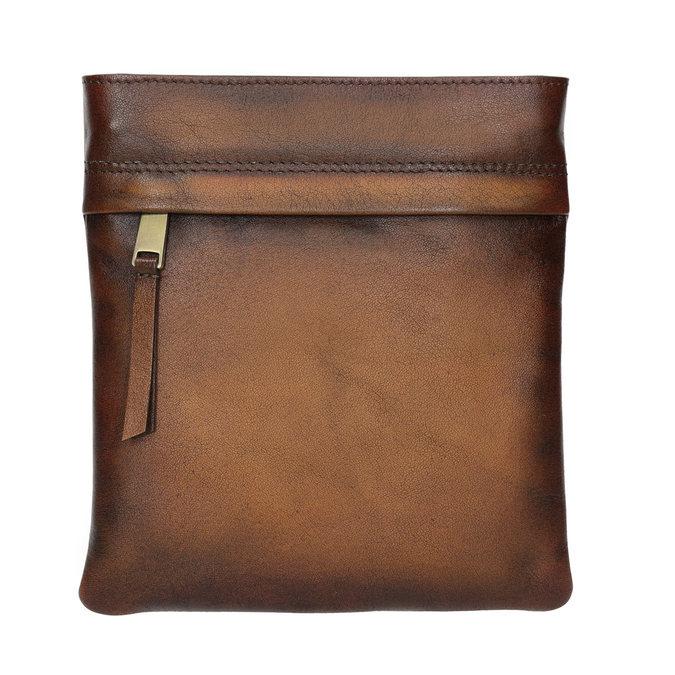 Kožená pánská Crossbody taška bata, hnědá, 964-3284 - 26