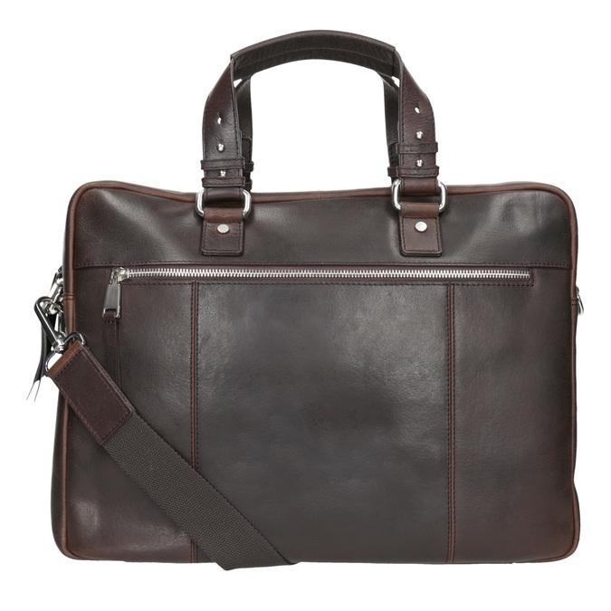 Pánská kožená taška na dokumenty bata, hnědá, 964-4287 - 16