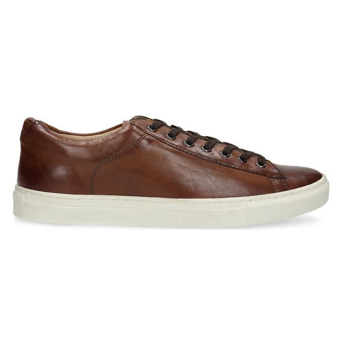 Kožené pánské tenisky bata, hnědá, 846-4648 - 19