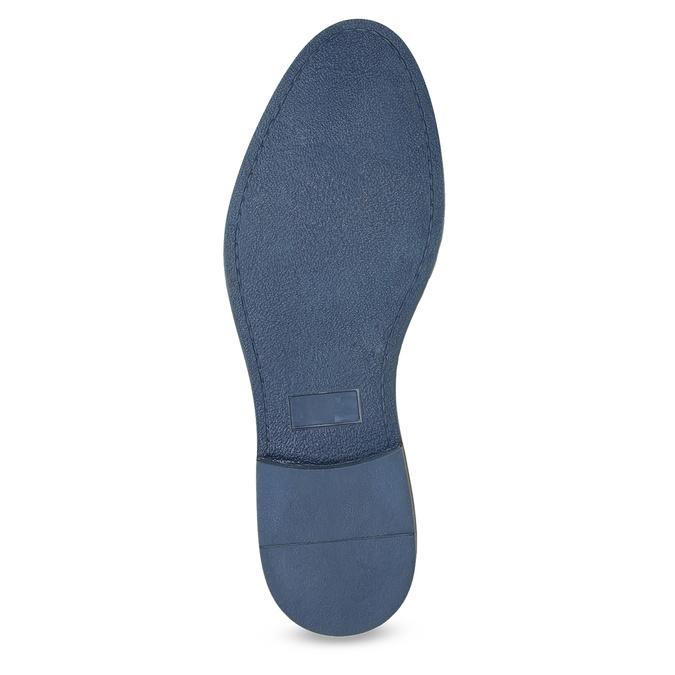 Hnědé kožené polobotky s pruhovanou podešví bata, hnědá, 826-4790 - 18