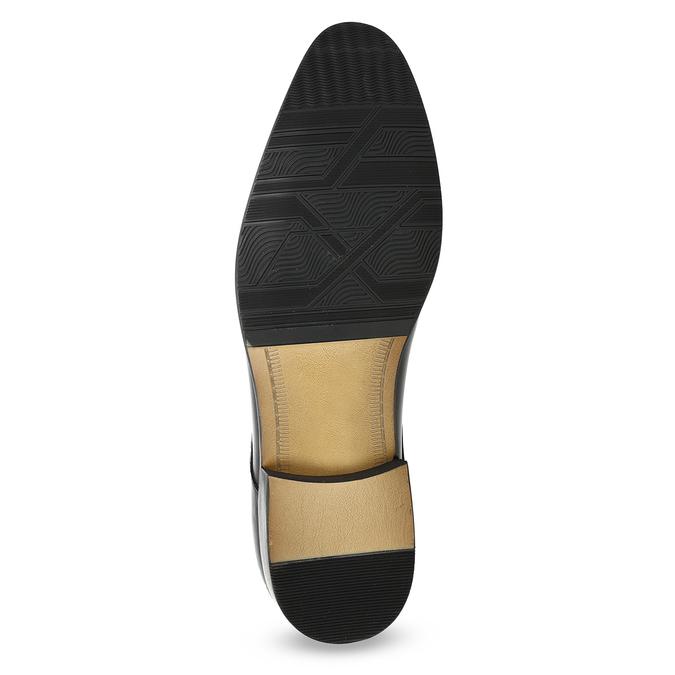 Pánské kožené Derby polobotky bata, černá, 824-6233 - 18