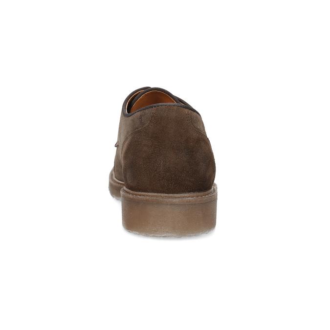Hnědé polobotky z broušené kůže bata, hnědá, 823-4626 - 15