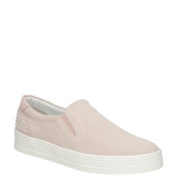 Dámská kožená Slip-on obuv bata, růžová, 533-5600 - 13