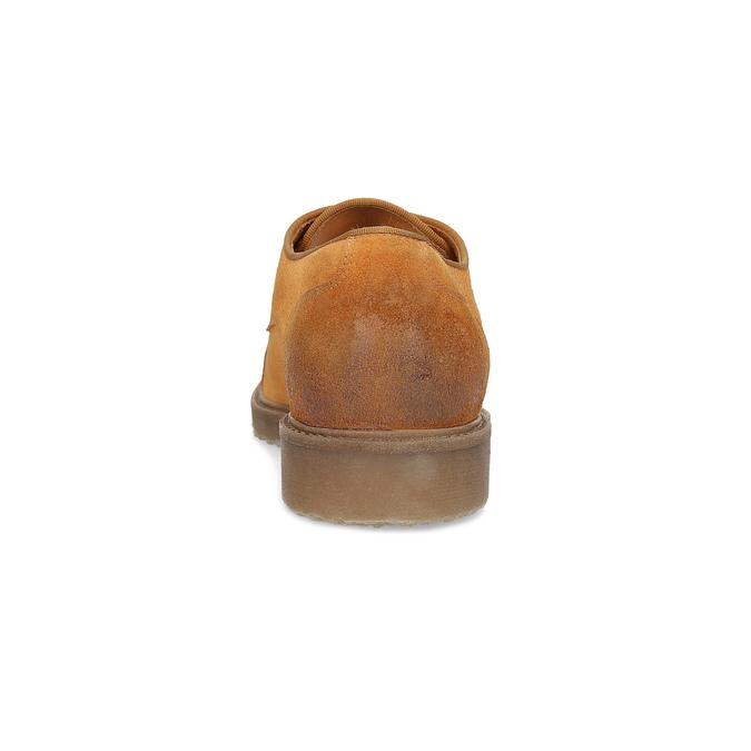 Pánské polobotky z broušené kůže bata, hnědá, 823-3626 - 15