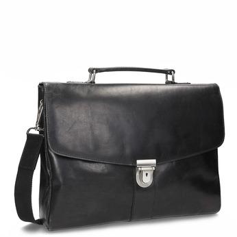 Kožená pánská aktovka bata, černá, 964-6289 - 13
