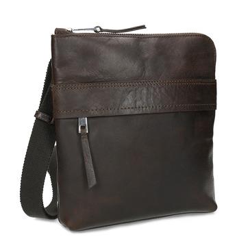 Hnědá kožená Crossbody taška bata, hnědá, 964-4288 - 13