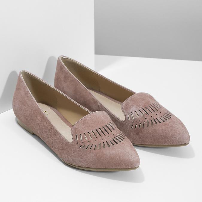 Dámská kožená Loafers obuv bata, 523-5659 - 26