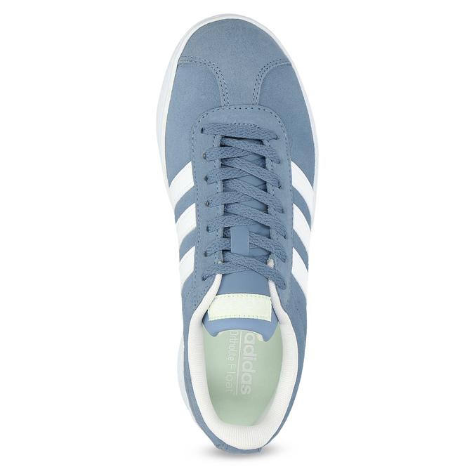 Tenisky z modré broušené kůže adidas, modrá, 503-2379 - 17