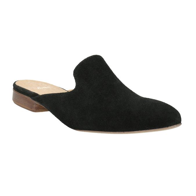 Kožené mokasíny s volnou patou bata, 516-6620 - 13