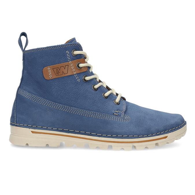 Dámská kožená kotníčková obuv weinbrenner, modrá, 594-9666 - 19