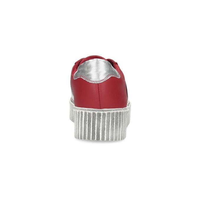 Červené kožené tenisky na flatformě bata, červená, 546-5616 - 15