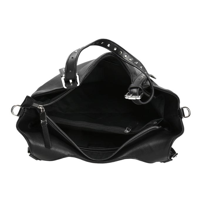 Černá kabelka s odnímatelným popruhem bata, černá, 961-6835 - 15
