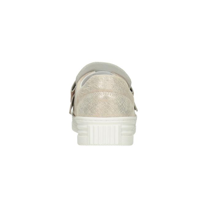 Kožená Slip-on obuv s mašlí bata, růžová, 536-5600 - 16