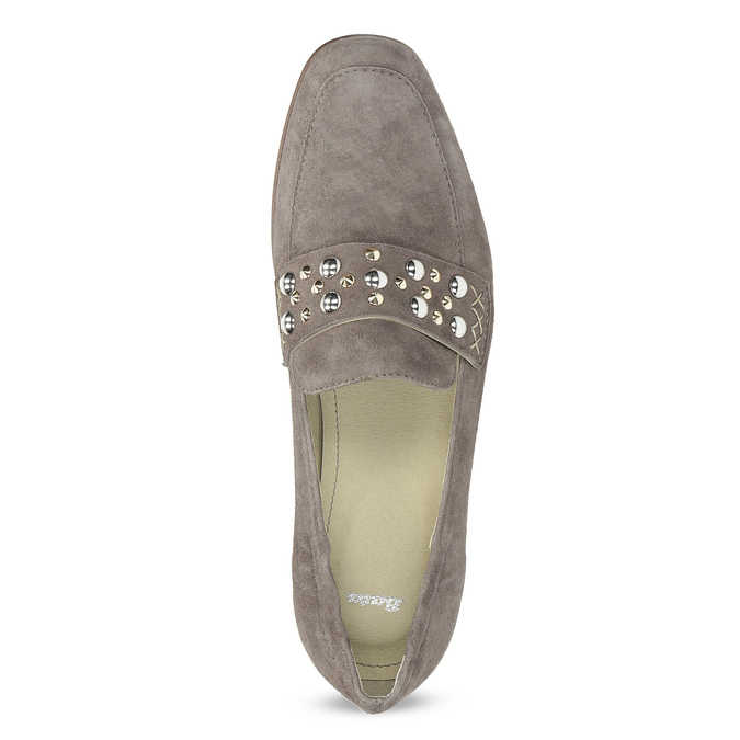 Kožené dámské mokasíny s přezkou bata, 516-3616 - 17