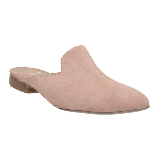Kožené mokasíny s volnou patou bata, růžová, 516-5620 - 13