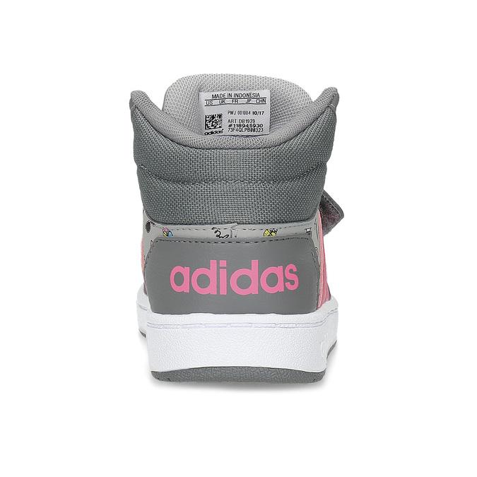 Šedé kotníčkové tenisky s potiskem adidas, šedá, 101-2125 - 15