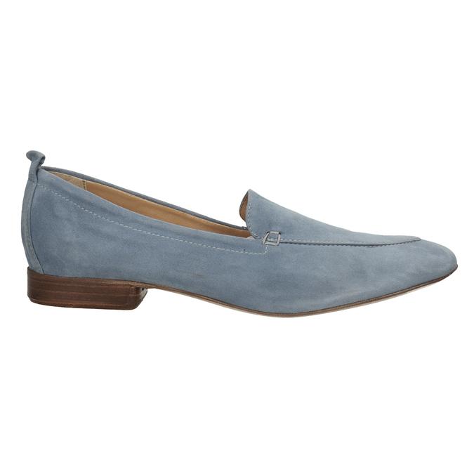 Ležérní mokasíny z broušené kůže bata, modrá, 516-9618 - 16
