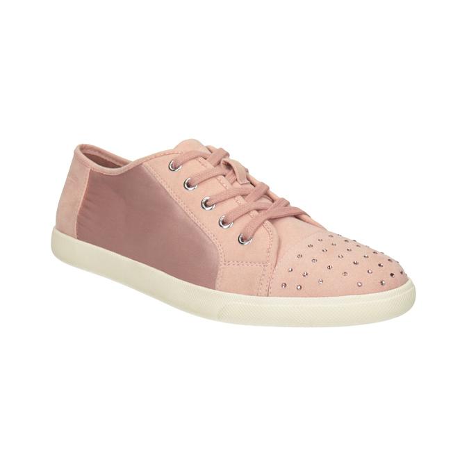 Růžové ležérní tenisky s kamínky bata-light, 549-5607 - 13