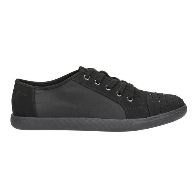 Dámské černé ležérní tenisky bata-light, černá, 549-6607 - 26