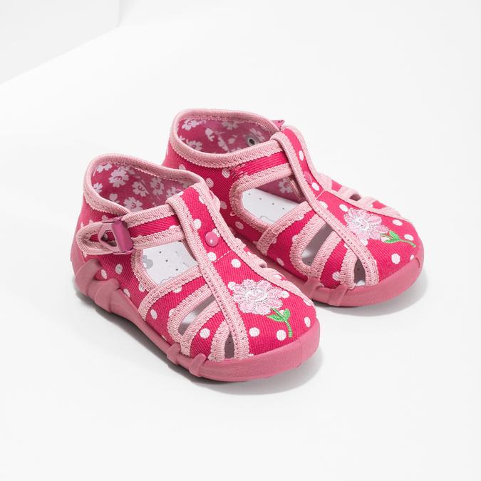 Dívčí růžové pantofle mini-b, 179-5601 - 26