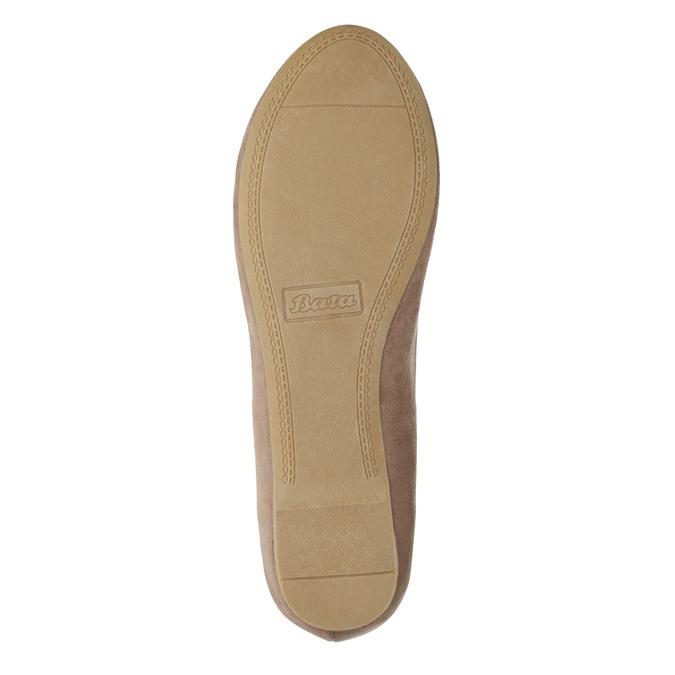 Béžové baleríny se zlatou sponou bata, 529-8638 - 17