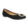 Baleríny se zlatou sponou bata, černá, 529-6638 - 13