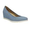 Dámské lodičky na klínku modré bata, modrá, 629-9636 - 13