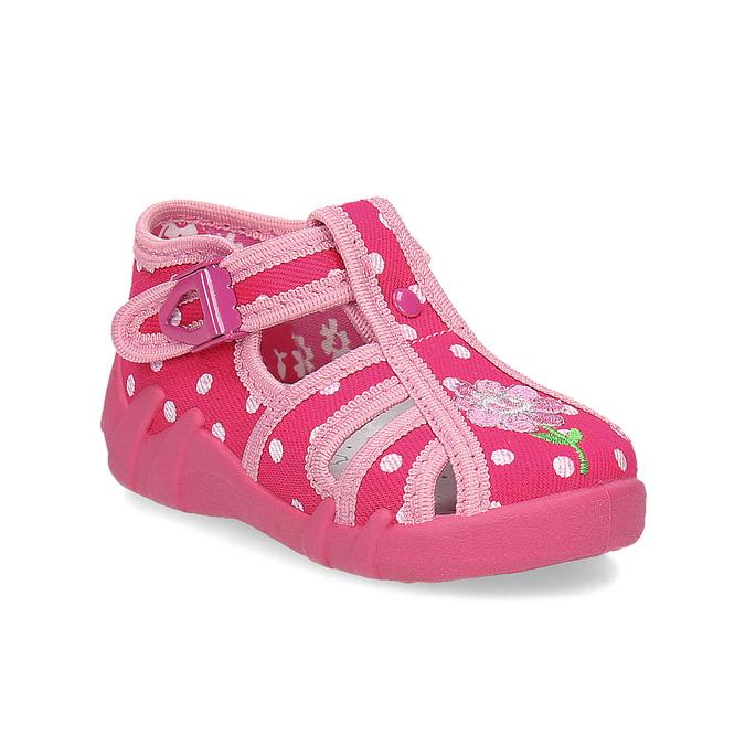 Mini B Dívčí růžové pantofle - Pro nejmenší děti  c3a4d34b2a