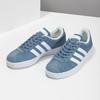 Tenisky z modré broušené kůže adidas, modrá, 503-2379 - 16