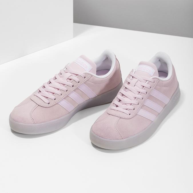 Růžové tenisky z broušené kůže adidas, růžová, 503-5579 - 16