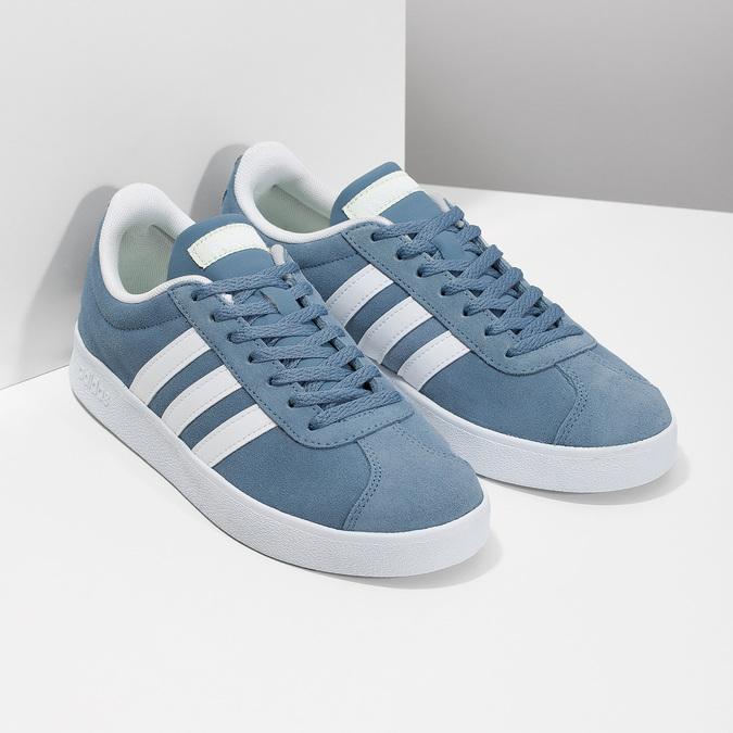 Tenisky z modré broušené kůže adidas, modrá, 503-2379 - 26