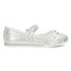 Stříbrné dívčí baleríny s kytičkami mini-b, stříbrná, 229-2106 - 19