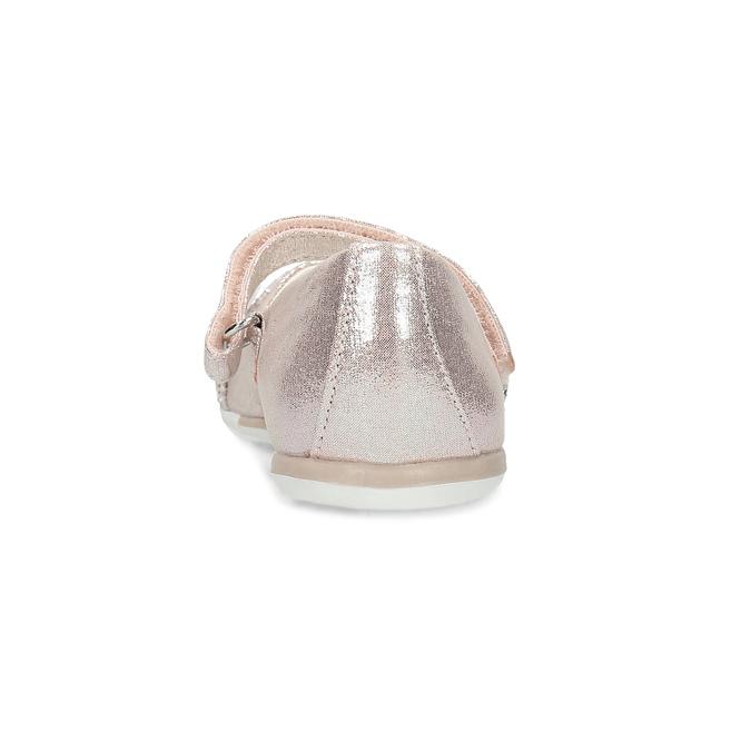 Růžové dívčí baleríny s odlesky mini-b, růžová, 229-5106 - 15