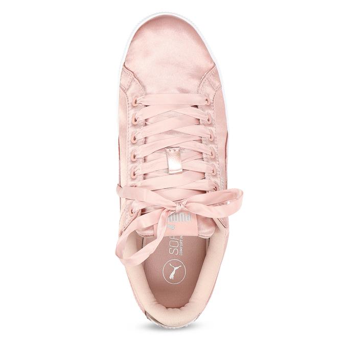 Růžové saténové tenisky puma, růžová, 509-5710 - 17