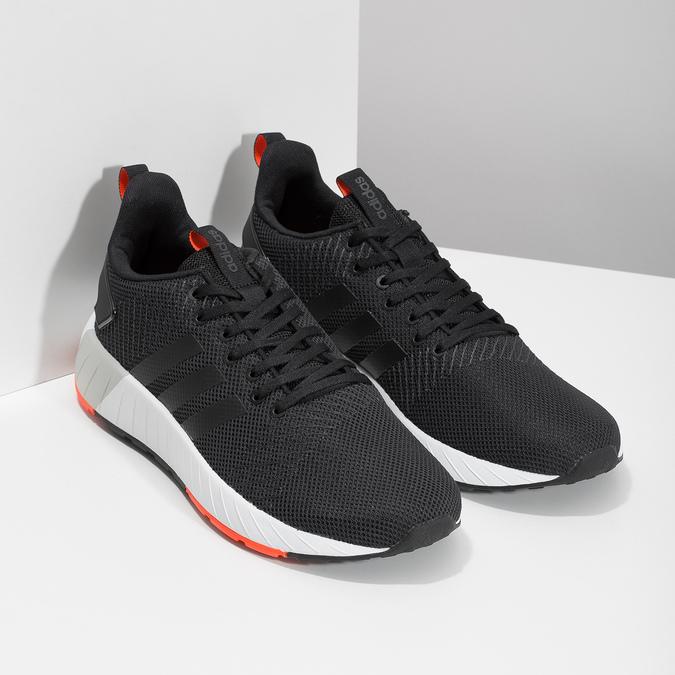 Pánské černé tenisky s oranžovými detaily adidas, černá, 809-6579 - 26