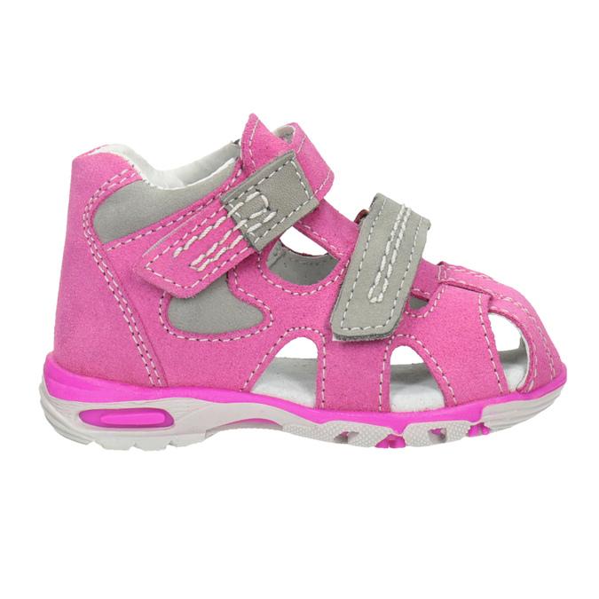 Dětské kožené sandály růžové bubblegummers, růžová, 163-5602 - 26