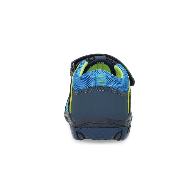 Dětské sandály na suchý zip bubblegummers, modrá, 161-9609 - 15