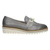 Stříbrné mokasíny s perličkami bata, stříbrná, 511-6610 - 16