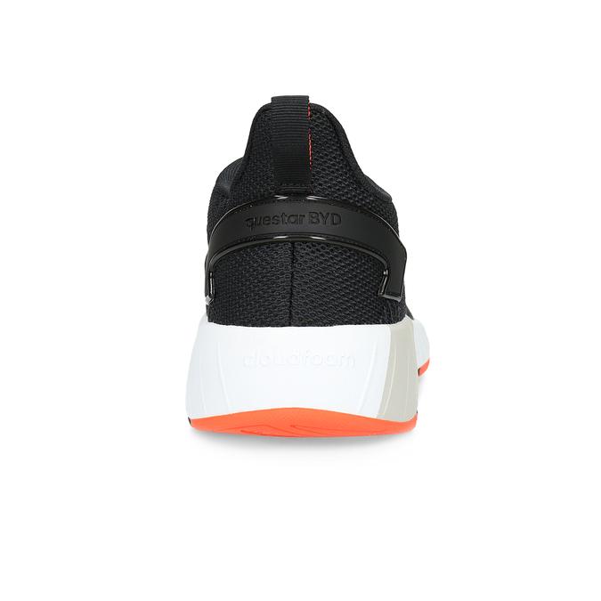 Pánské černé tenisky s oranžovými detaily adidas, černá, 809-6579 - 15